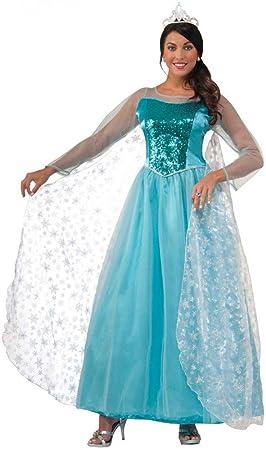 shoperama Mujer Disfraz – Princess Crystal – Hielo Princesa Frozen Elsa Talla 40 Frozen Cuento Princesa