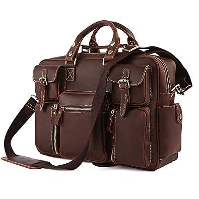 ff0328e9b0b8 High Quality Handmade bags Bags World 100% Rare Crazy Horse HANDMADE Leather  Men s Briefcase Laptop Bag Dispatch Shoulder Huge