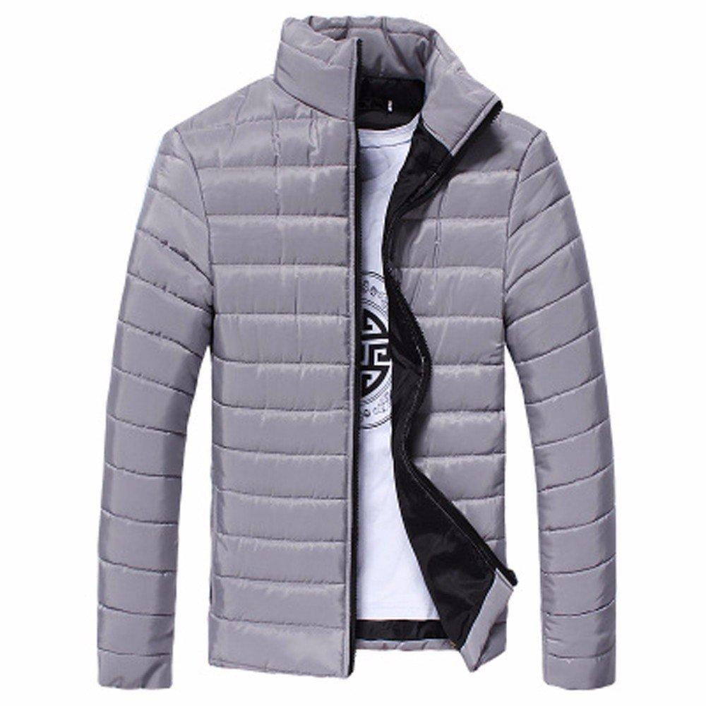 Fantaisiez Manteau Hommes é pais Coton Dé contracté e Veste Outwear Col Debout Hiver Chaud Jacket Manche Longue Manteaux Homme Fermeture é clair Tops
