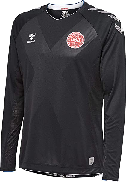 8b6d9ca76e6 Hummel Sport Hummel Danish National Soccer Team Goalkeeper Jersey, Black,  Medium