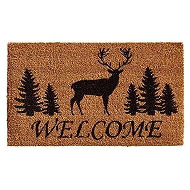 Home & More 121681729 Elk Forest Welcome Doormat, 17  x 29  x 0.60 , Natural/Black