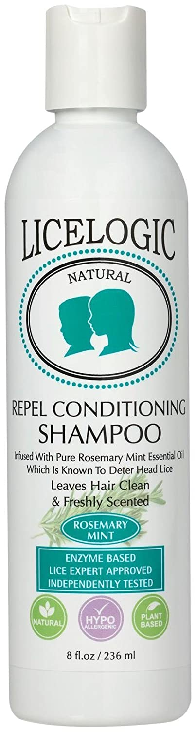 LiceLogic Natural Enzyme Based Lice Repel Conditioning Shampoo, 8 oz Rosemary Mint Logic Products