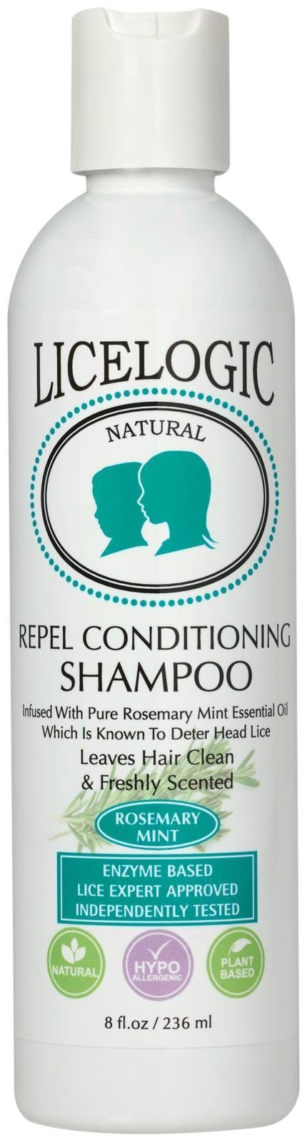 LiceLogic Natural Enzyme Based Lice Repel Conditioning Shampoo, 8 oz Rosemary Mint