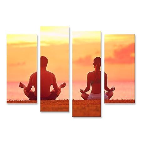 Cuadros Decoracion Salon Modernos Meditación Yoga Pareja ...