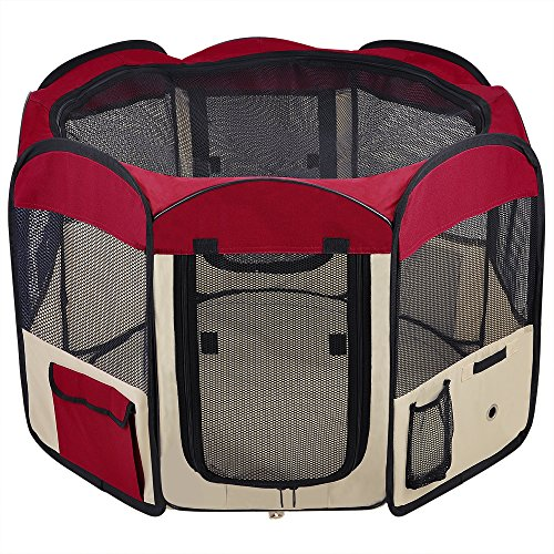2 Door Waterproof Oxford Playpen Exercise
