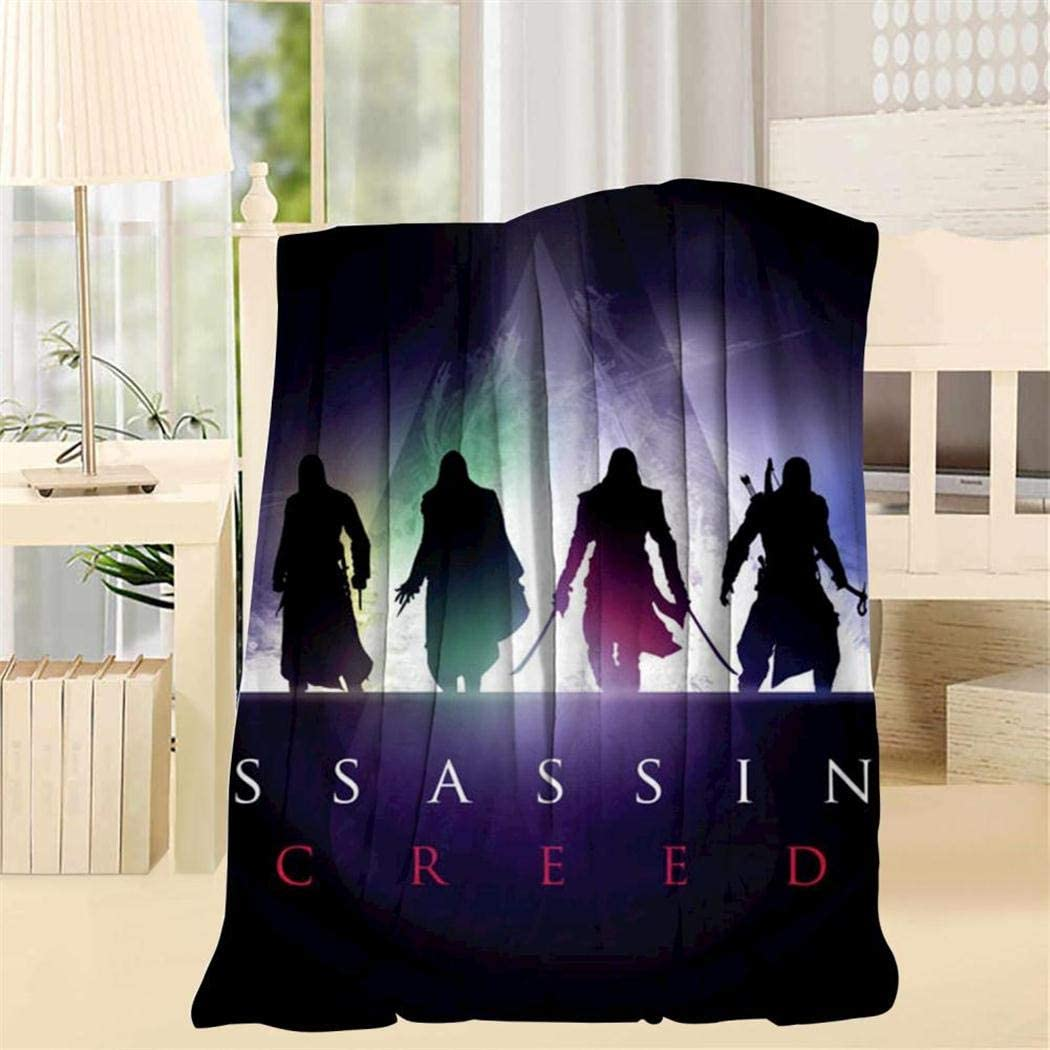 TRV0PFE A-ssassin_Creed Super Soft Blanket 3D Fleece Woolen Blanket Warm for Adults and Children