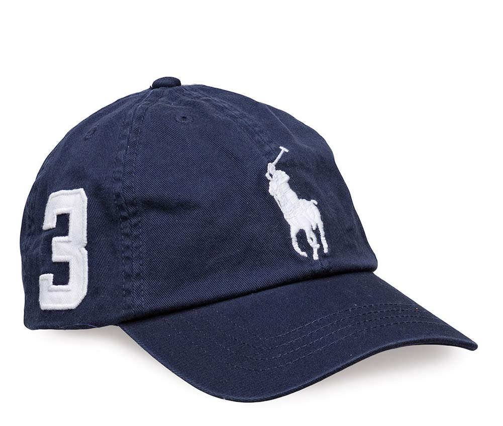 Polo Ralph Lauren Boys Big Pony Logo Adjustable Hat Ball Cap (4-7, Navy)