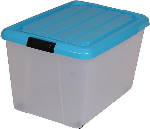 Iris Ohyama Europe Caja de almacenamiento con ruedas, caja de ...