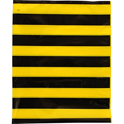 Fixo 72301 - Pack de 25 bolsas disfraz, 56 x 70 cm, color multicolor (amarillo/negro)