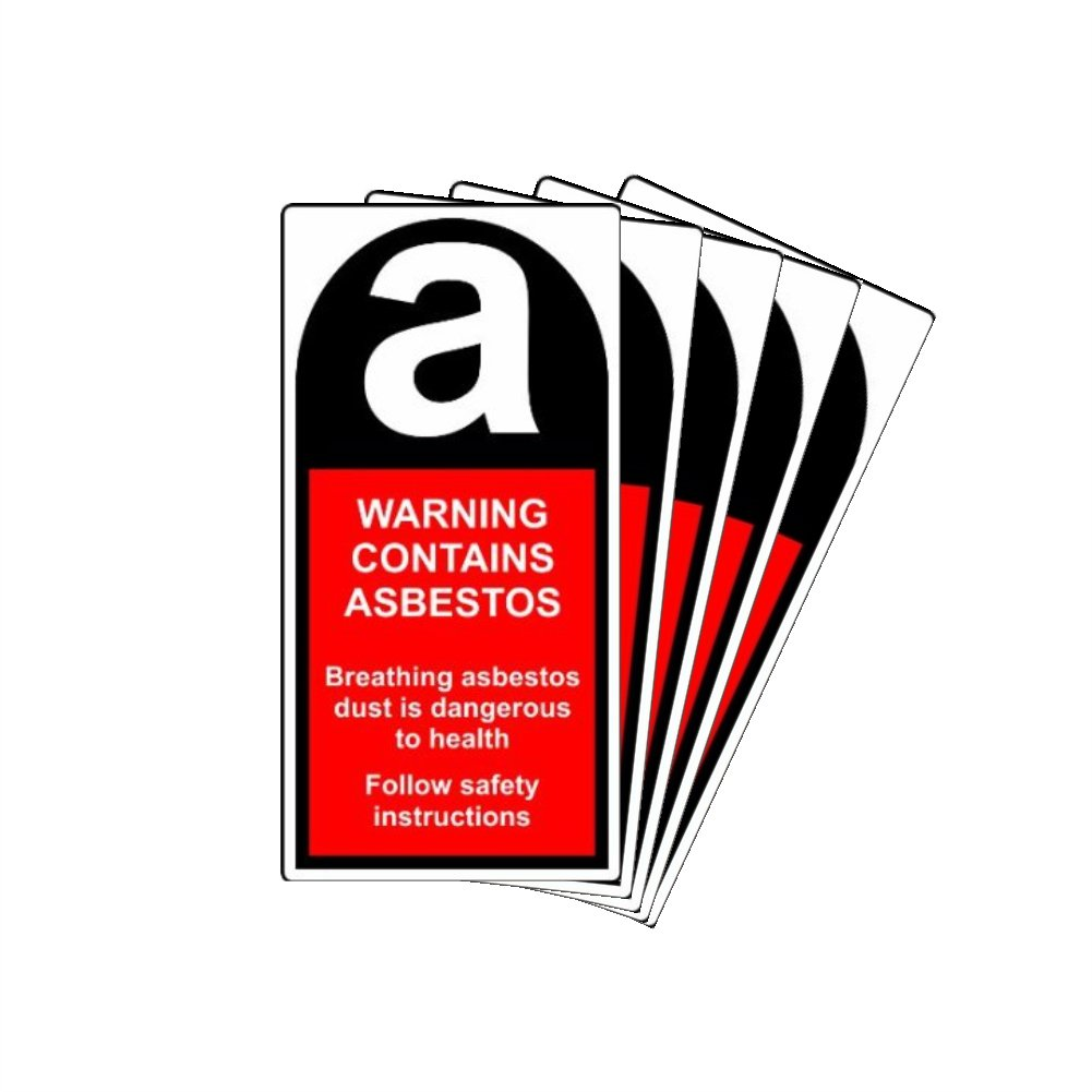Pack of 50 Asbestos Labels 25mm x 62mm
