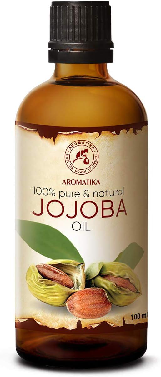 Aceite de Jojoba 100ml - Simmondsia Chinensis - Argentina - 100% Puro y Natural - Cuidado para el Rostro - Cuerpo - Cabello - uso Puro con Aceites Esenciales para Cosmético - Masaje
