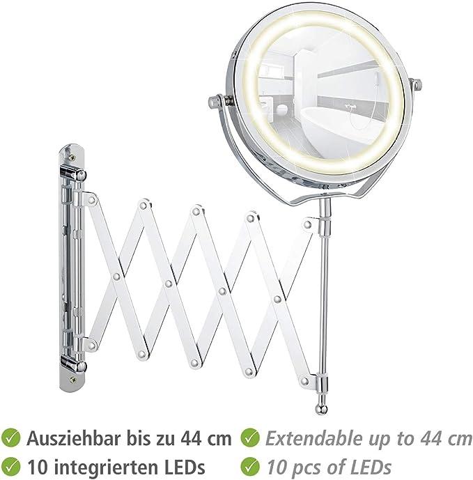 Kosmetikspiegel ausziehbar bis 57 cm Ø 14,5 cm 100