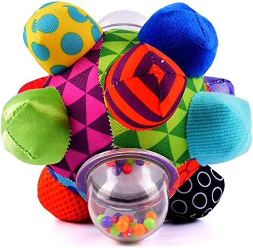 Juguete del traqueteo del bebé Multicolor pelota de trapo golpe ...