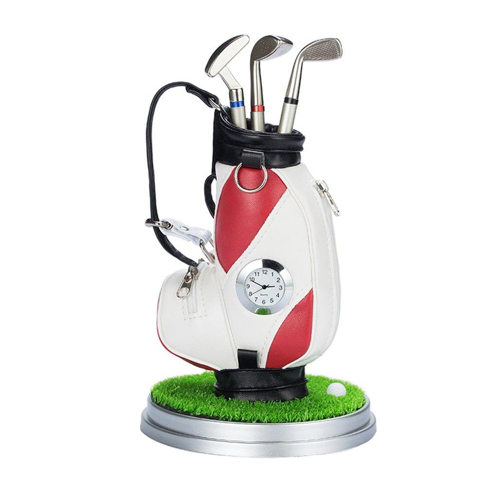 escritorio de oficina de reloj Golf Club pluma lápiz bolsa ...