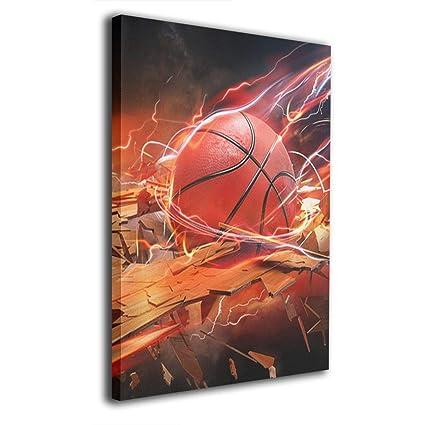 Amazon Com Warm Tone Art Basketball Wallpaper Canvas Prints Wall