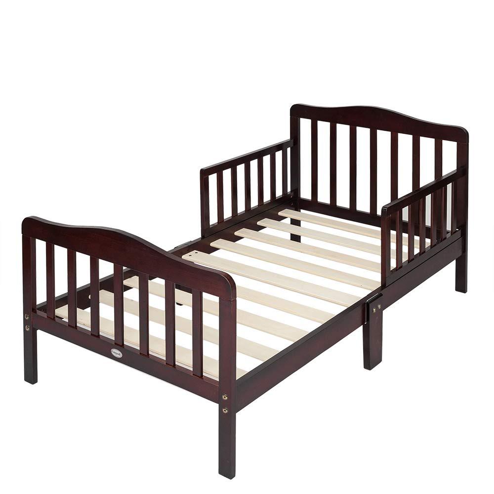 Bonnlo Wooden Toddler Bed for Boys & Girls, Cherry by Bonnlo