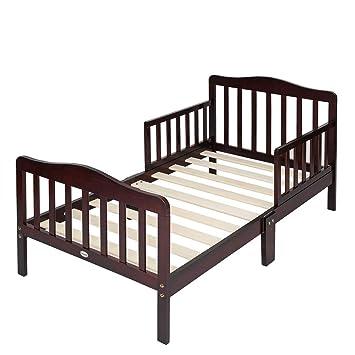 Wooden Toddler Bed Frame.Bonnlo Wooden Toddler Bed For Boys Girls Cherry