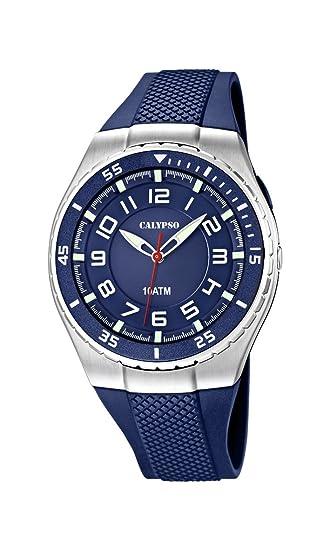 Calypso Calypso Watches K6063/2 - Reloj para niños, Correa de plástico Color Azul: Amazon.es: Relojes