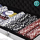 SKEMIDEX---500 Chips Poker Dice Chip Set 11.5 Grams Texas Hold'em Cards w/ Silver Aluminum Case & Placemat And casino poker chips And poker chips target Andcheap poker chips