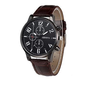 Xinantime Reloje Hombres,Xinan PU Banda Cuero de Aleación Analógica Cuarzo Reloj Pulsera (Marrón): Amazon.es: Deportes y aire libre