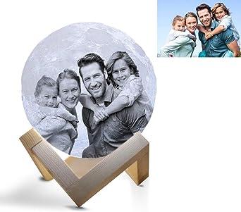 Benutzerdefiniertes Foto Nachttischlampe Personalisierung Mond Lampe 3d Mond Mondlampe Farbige Dekoleuchte Mit Tragbar Dimmbar Schlummerleuchte Stimmungslicht Geschenk Weihnachten 3 5inch 9cm Amazon De Beleuchtung