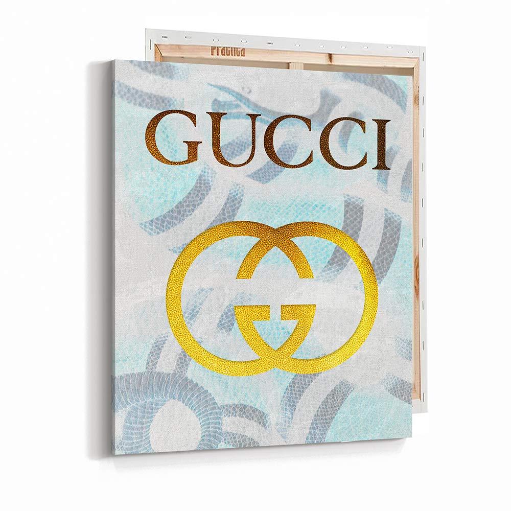 Amazon com fashion glam wall art poster print gucci brand printed on fine art canvas 11x14 1073 handmade