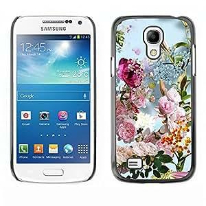 TopCaseStore / la caja del caucho duro de la cubierta de protección de la piel - Summer Spring Floral Flowers Bouquet Sun - Samsung Galaxy S4 Mini i9190 MINI VERSION!