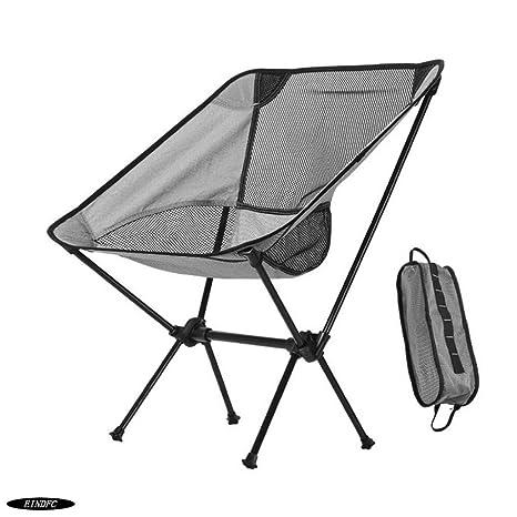 Silla Plegable EINDFC Silla de Camping de Tela Oxford Fácil ...