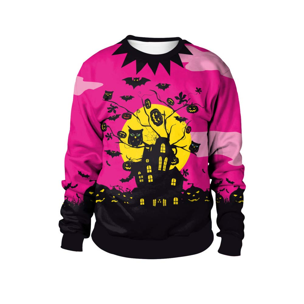 CHAOHAO 3D Kapuzenpullover Halloween-Kostüme, Rundhals-Pullover, Halloween-Party Verkleiden Sich, Straßenkostüme
