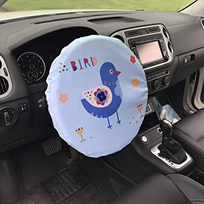 Forala Steering Wheel Cover Universal Fit UV Proof Sun Shade (Rocket) (Bird): Automotive