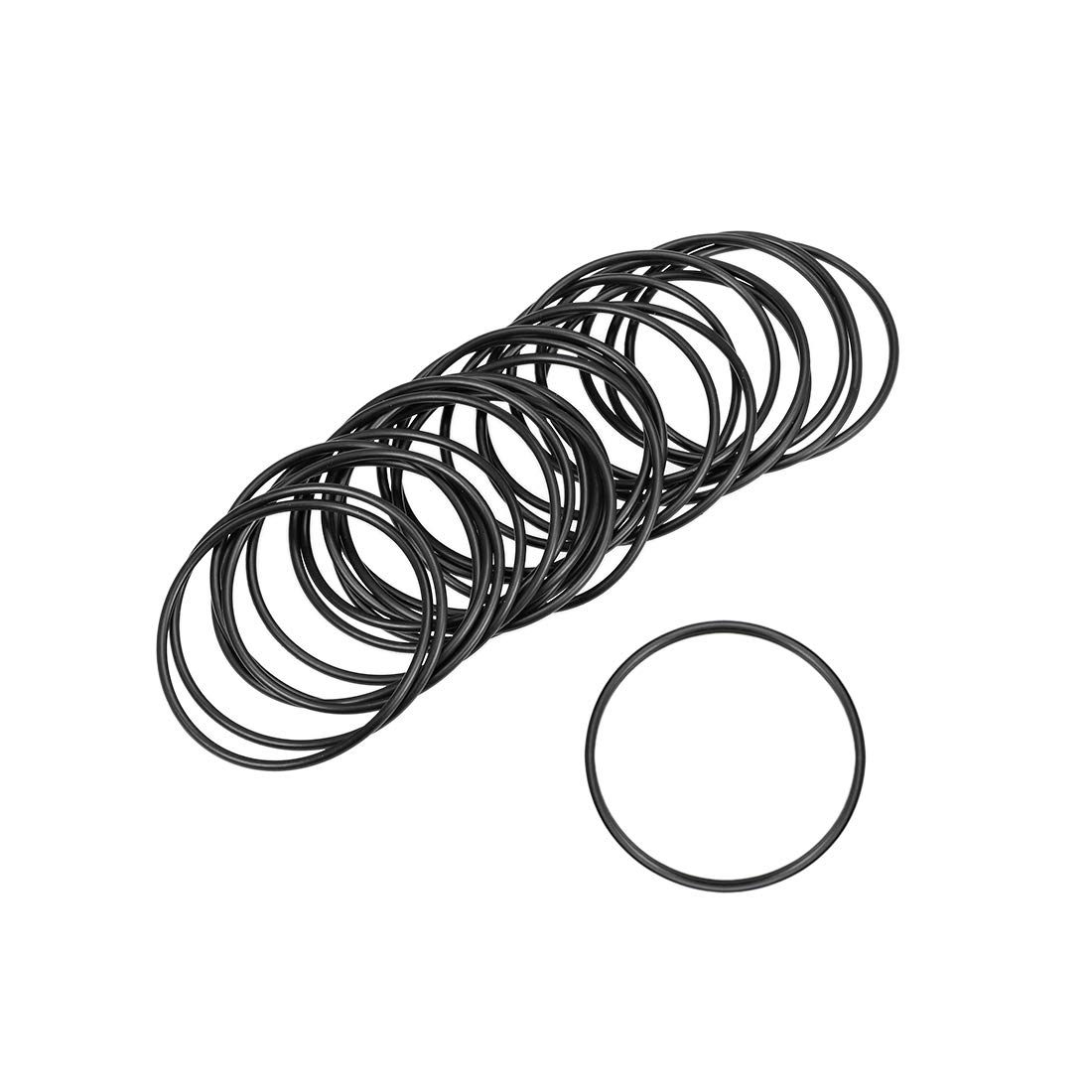 uxcell O-Rings Nitrile Rubber 23mm Inner Diameter 26mm OD 1.5mm Width Round Seal Gasket 25 Pcs