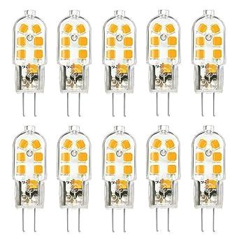 TINS G4 LED Bombilla,G4 3W LED Bombilla,AC/DC 12V,150LM