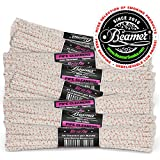 132 Pieces (3 Packs of 44) Beamer Ultra Premium Hard Bristle Pipe Cleaners. Extra Absorbent 100% Cotton, Tapered, Bendable, Reusable + Beamer Sticker.Great for Smoking Items, Cleaning, Arts and Crafts