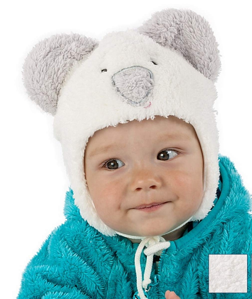 Baby Boy Boys Kids Autumn Winter Warm Cosy Hat 0-24 Months (44cm 6-9 Months, White/Grey) For Kids