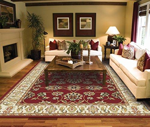 Traditional Area Rugs 2x3 Door Mat Indoor Red Small Rugs for Bedroom Prime Rug Family Door Mat Art
