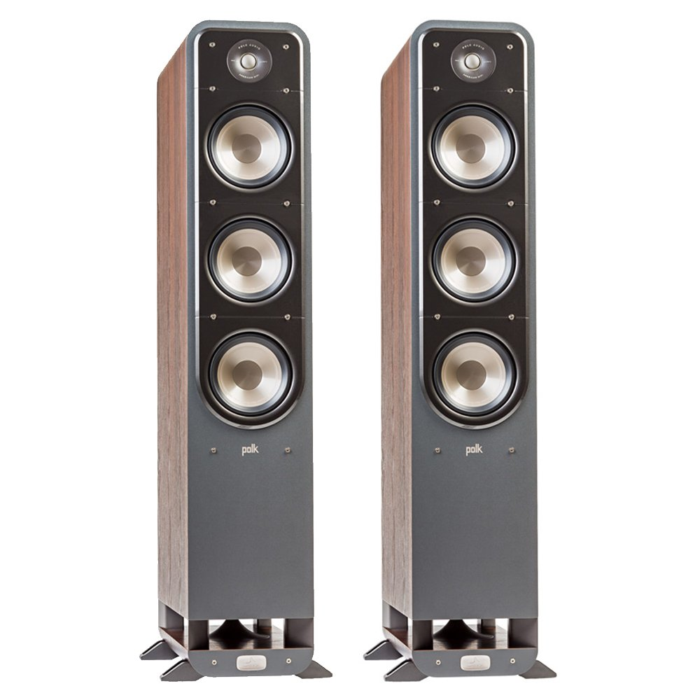 Polk Signature S60 American HiFi Home Theater Tower Speaker (Pair, Walnut)