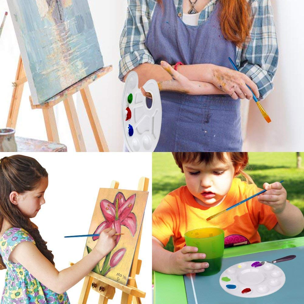 AOOK Juego de pinceles de 80 piezas Pinceles profesionales Artista para pintura al /óleo Acr/ílico Acuarela paquete de 8 80 piezas