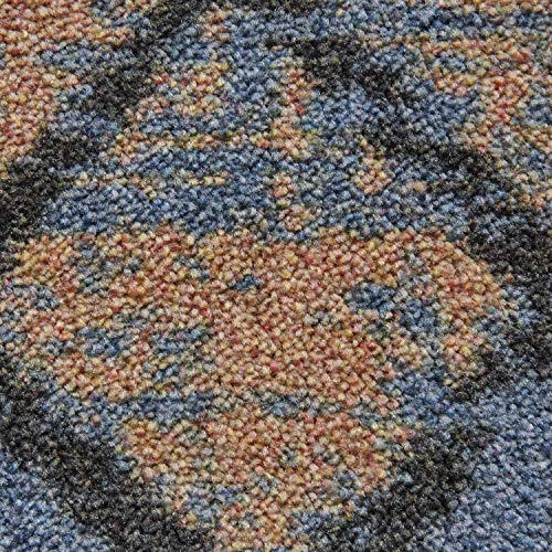 Mohawk Home Prismatic Jasmine Denim Printed Floral Distressed Contemporary Area Rug, 5 x8 Blue