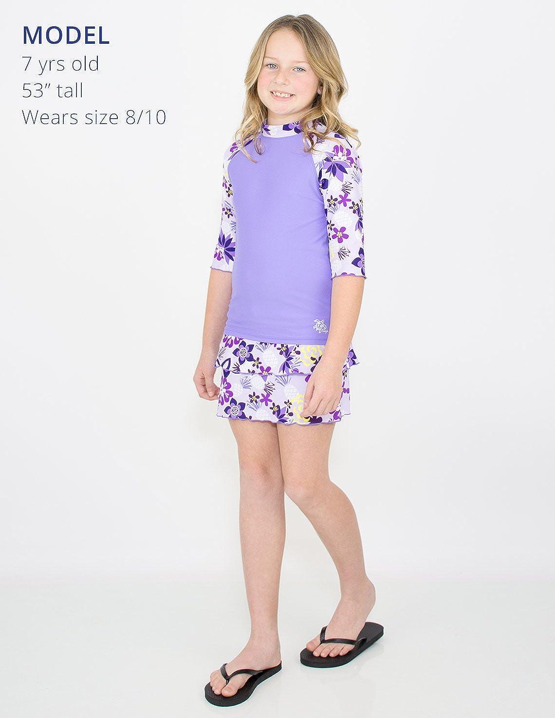 Amazon.com: Tuga Traje de baño de tres piezas para niñas de ...