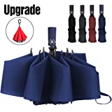 Amazon.com: YUSOO Automatic Compact Travel Umbrella with Reverse ...