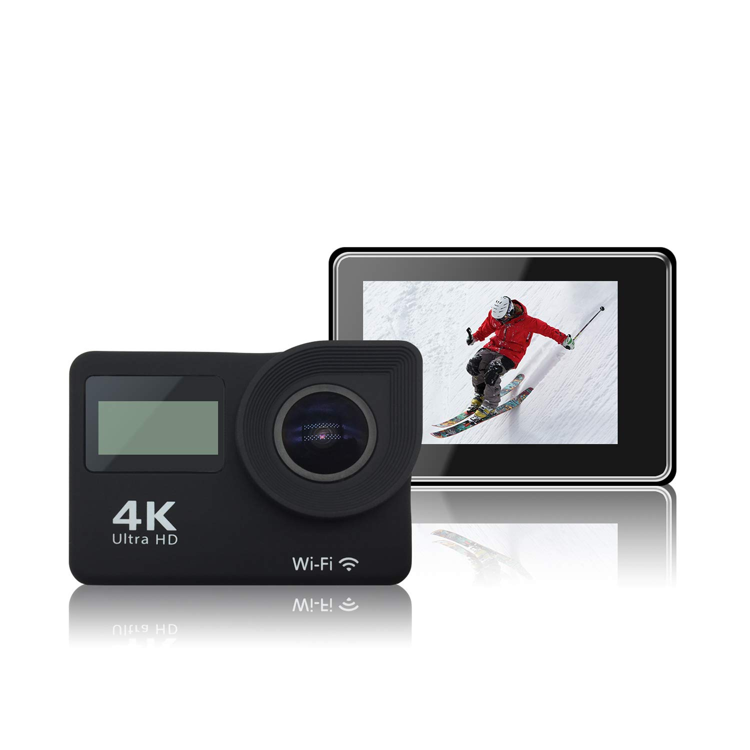 4K Action Camera WiFi HD Waterproof Sport Camera 2 inch LCD Screen 16MP 170 Degree Wide Angle 2 Rech Udivape