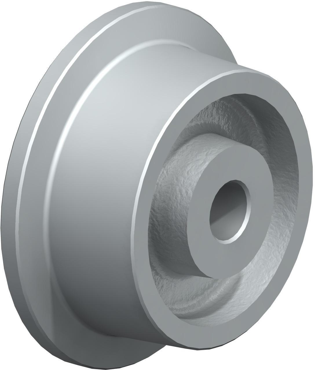 J.W. Winco 100GNB1 Wheel, Gray Cast Iron