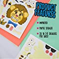 24 Make-A-Zoo Animal Sticker Sheets - Great Zoo And Safari Theme Birthday Party Favors - Fun Craft Project For Children 3+ - Let Your Kids Get Creative & Design Their Favorite Animal Sticker! by M & M Products Online