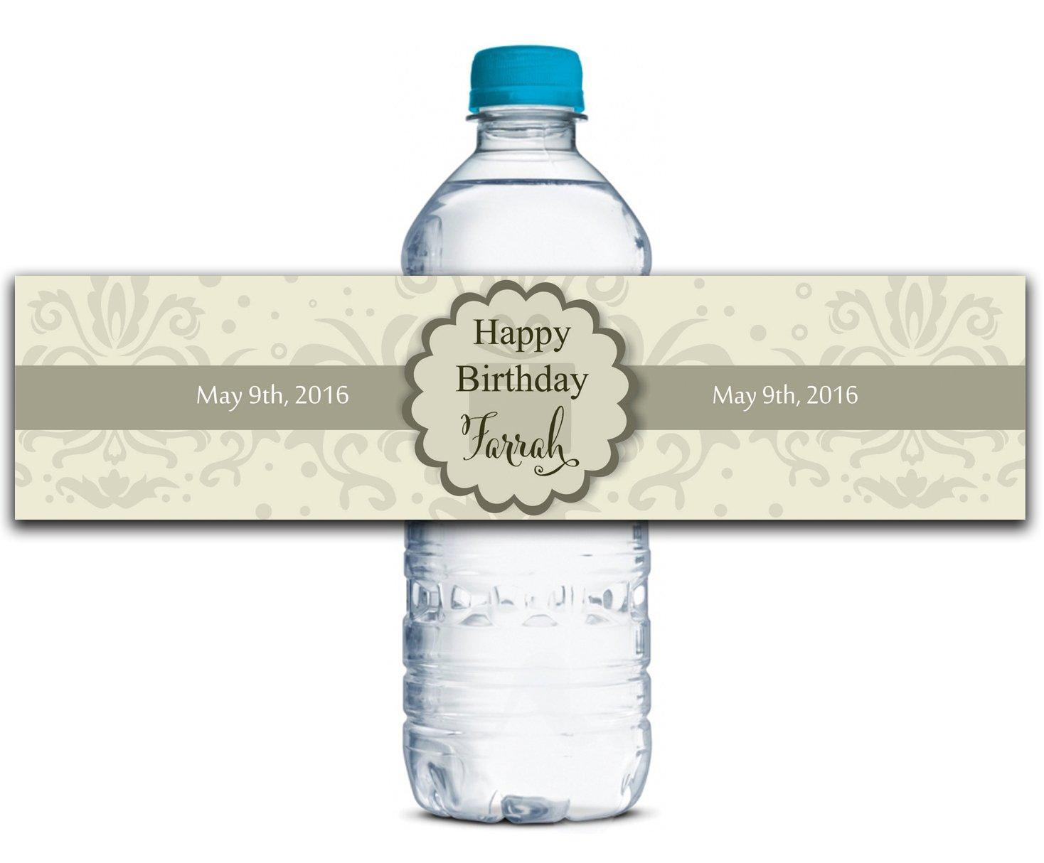 Personalisierte Wasserflasche Etiketten Selbstklebende Selbstklebende Selbstklebende wasserdichte Kundenspezifische Geburtstags-Aufkleber 8  x 2  Zoll - 50 Etiketten B01A0W632G | Produktqualität  57e137