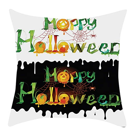 CLOOM Funda de cojín de Halloween, diseño de Calavera Bate ...