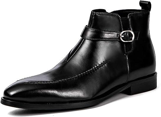 Botas de Vestir de Negocios Retro para Hombres Botines Formales ...