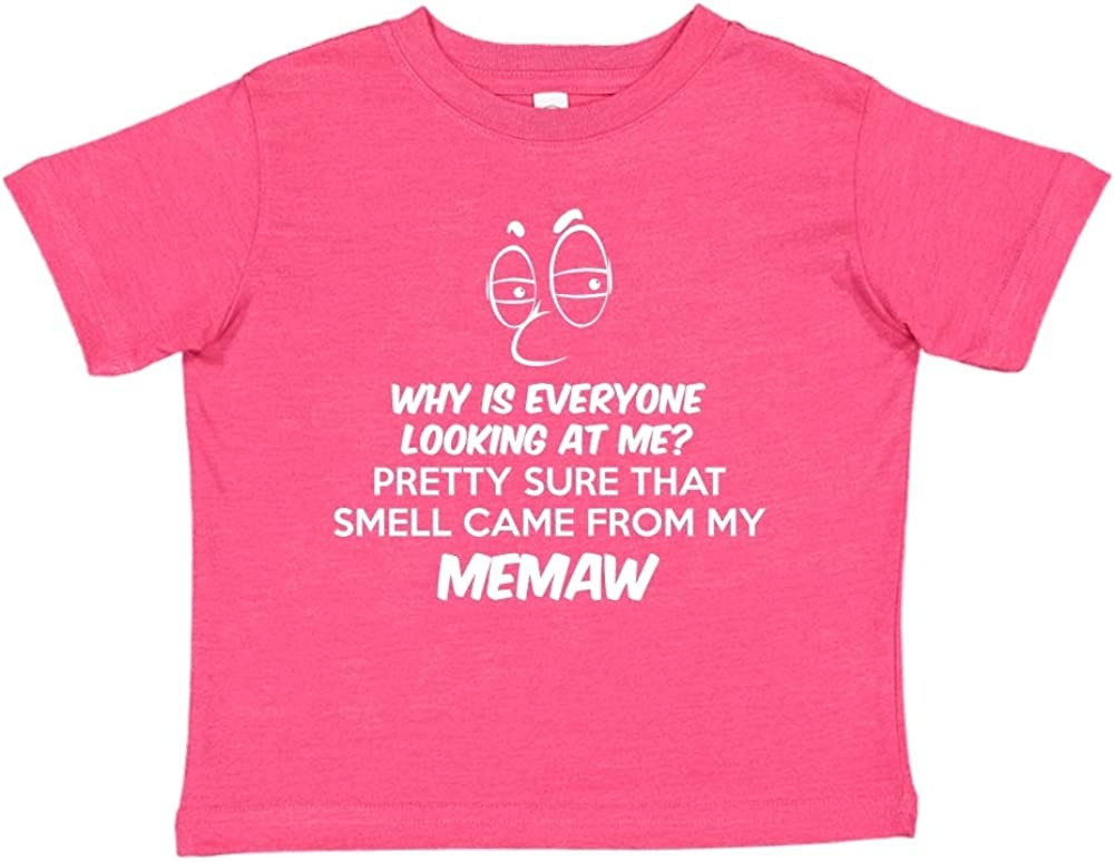Toddler//Kids Short Sleeve T-Shirt Pretty Sure That Smell Came from My Memaw