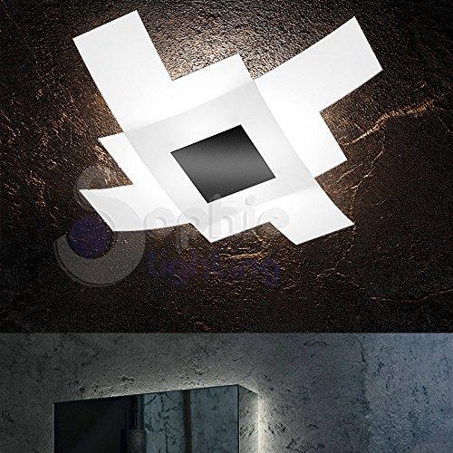 Plafoniera lampadario lampada soffitto 55 x 55 design moderno ...