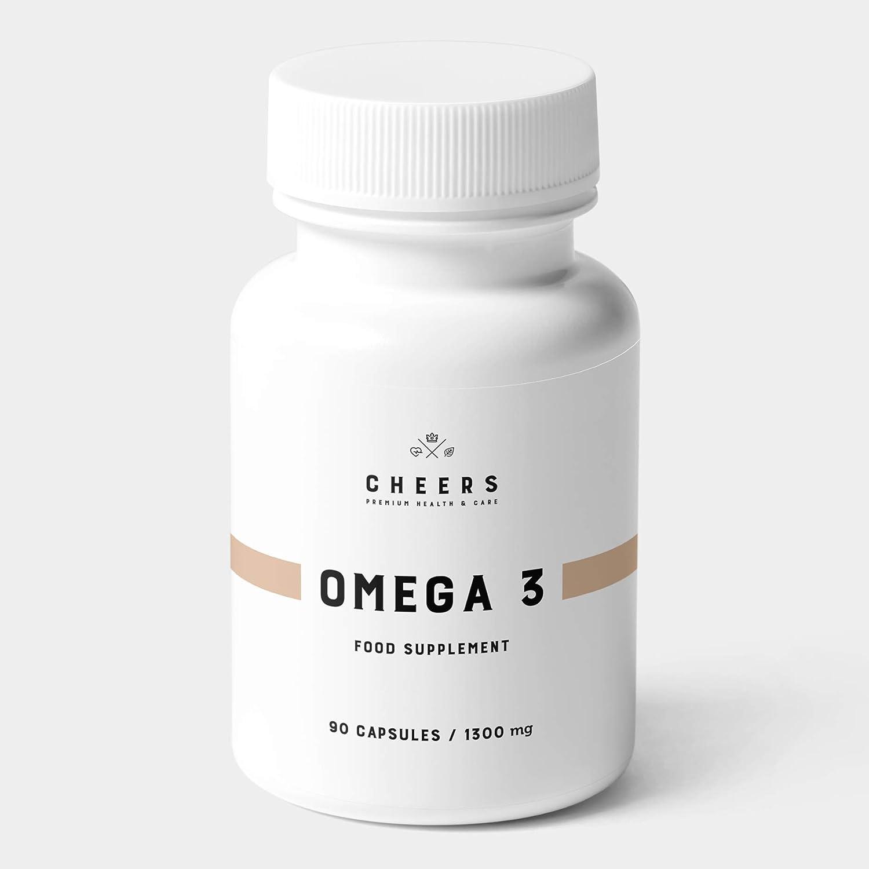 Omega 3 - Cápsulas de Aceite de Pescado Puro de la más Alta Calidad - 1100 mg de DHA/EPA por porción - Suplemento de ácidos grasos Omega 3 - Sin sabor ni