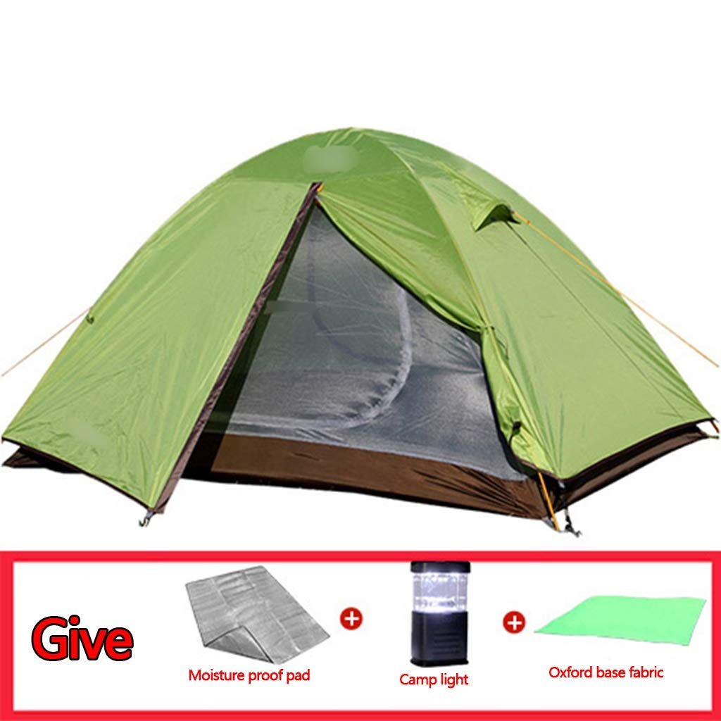 Imprägniern Zelt des Zeltzeltes des Zeltes des Aluminiums im Freien starkes rearproof wasserdichtes 2 Zeltzelt der Leute multi, das wahlweise freigestellt ist ( Farbe : Grün , Größe : 210140110cm )